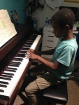 Timi practicing his scales, sounding very fluent and all set for his exam in few weeks